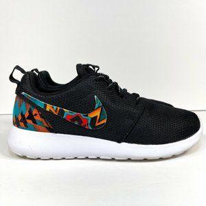 Nike Roshe Run Custom Women's Size 7 Black White Aztec 511882-094